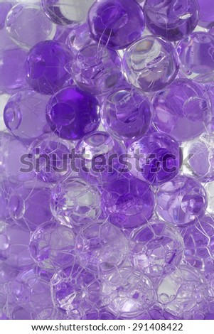 Ball gel in the bottle, Aroma Beads texture for background - stock photo