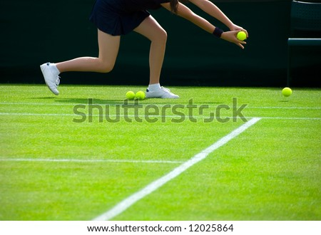 Ball Girl - stock photo
