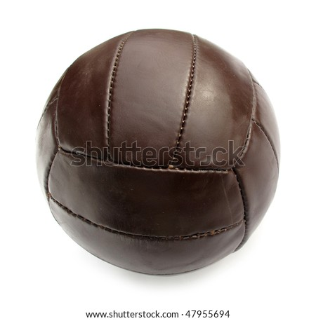 Ball leather brown vintage - stock photo
