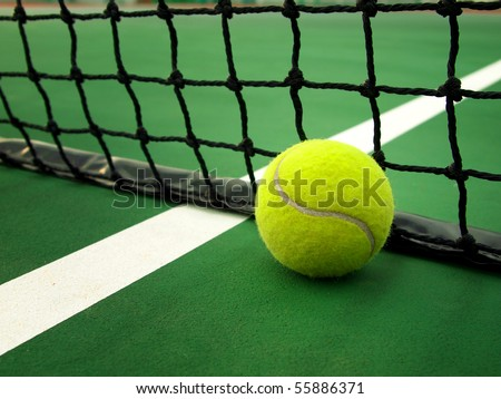 Ball & Net - stock photo