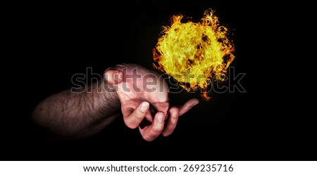 Ball of fire - stock photo