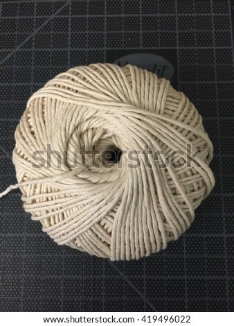 Ball of white Yarn