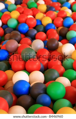 ball pool in amusement park, ball texture - stock photo