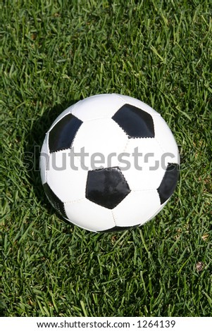 Ball used for soccer or football - soccer in usa, football in other parts of the world.