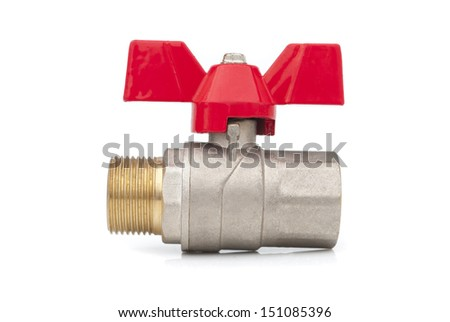Ball valve on a white background.