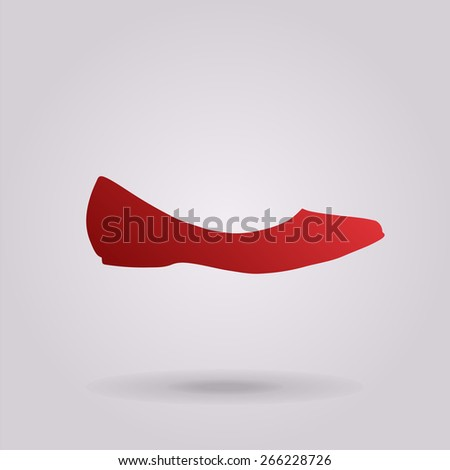 Ballerina flats - women's shoe, the silhouette. Menu item in the web design. - stock photo