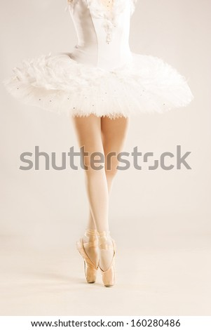ballerina in studio - stock photo