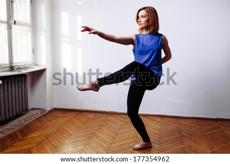 Ballerina practising the moves