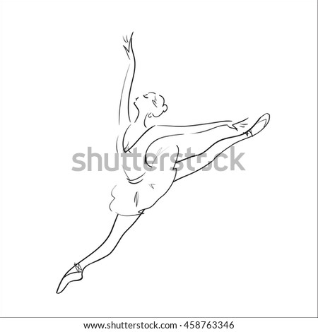 Ballerina silhouette on a white background.