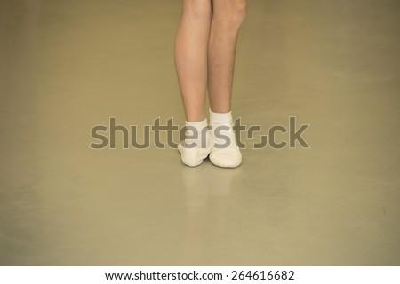ballet class - stock photo