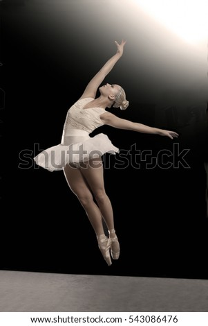 Ballet dance portrait of a dancing woman