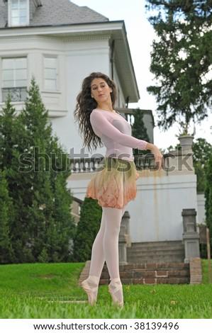 ballet in the garden - stock photo
