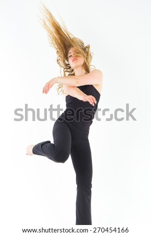 Ballet Model Dancing Girl  - stock photo