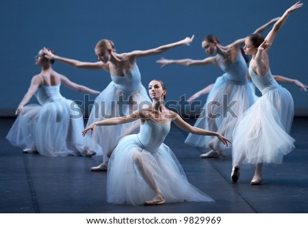 Ballet of Mariinsky Theatre from St. Petersburg (Russia) in Bolshoi Theatre in Moscow. - stock photo