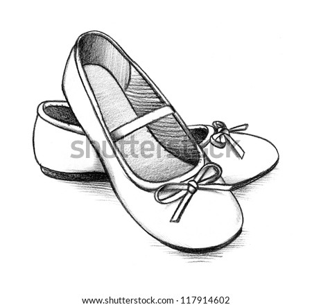 Ballet Shoes - stock photo