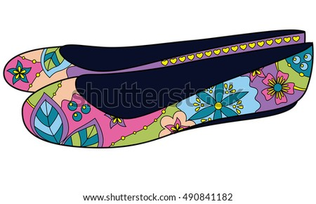 ballet shoes colorful rasterized copy