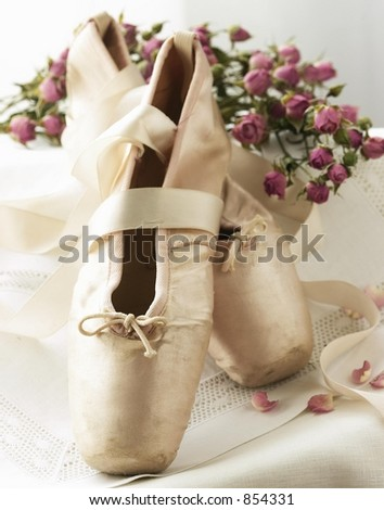 Ballet-Toe shoes with baby roses
