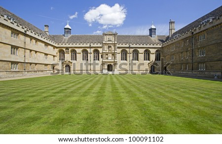 Balliol college in Oxford, UK - stock photo