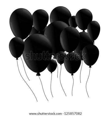 ballon black for text isolated on background - stock photo