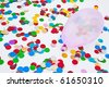 ballons and confetti - stock photo