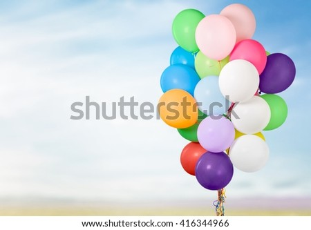 Balloon. - stock photo
