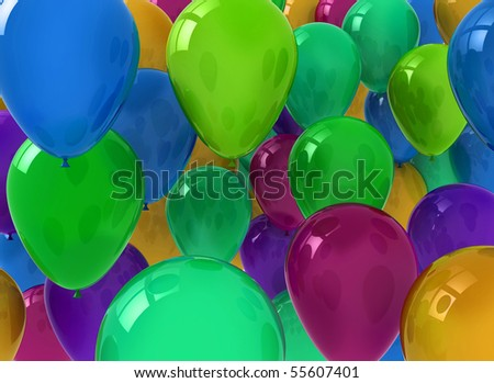 Balloon background - stock photo