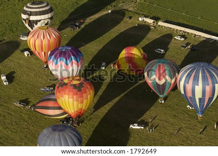 Balloon Fiesta from Above - stock photo