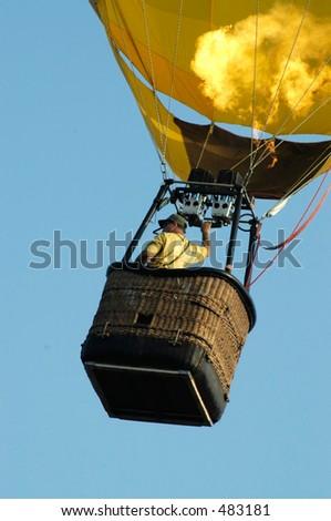 balloon five - stock photo