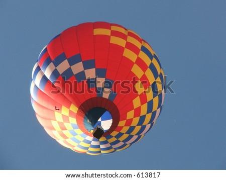 balloon floating away - stock photo