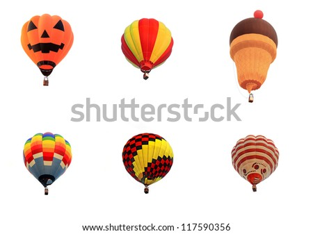 balloon hot air isolated white background - stock photo