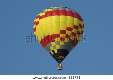 Balloon in blue sky - stock photo