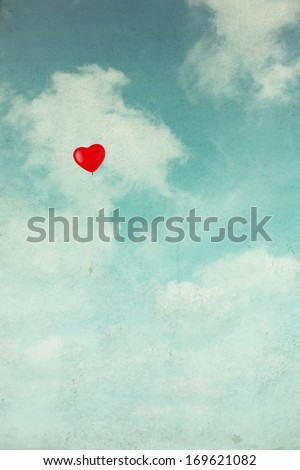 balloon in the sky. vintage retro style - stock photo