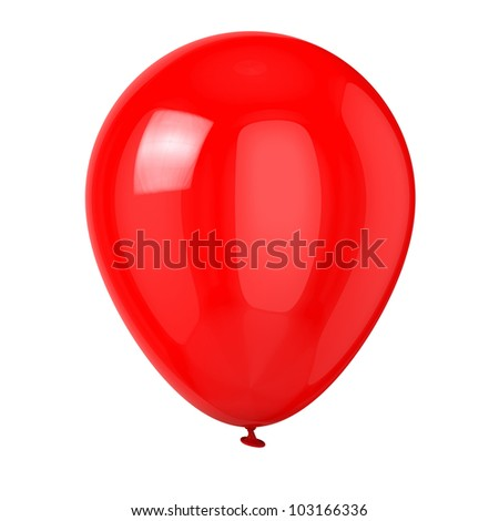 Balloon isolated on white background.