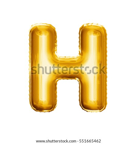 balloon letter h realistic 3d isolated gold helium balloon abc alphabet golden font text
