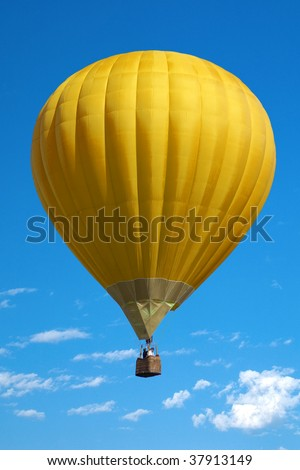 Balloon on a background blue sky - stock photo