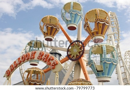 balloon ride - stock photo