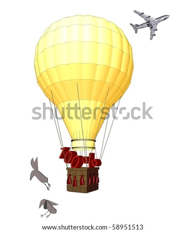 Balloon with a 100 % discount. - stock photo