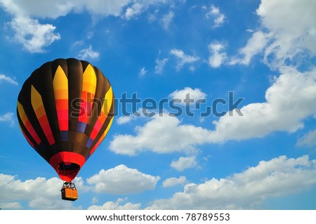 balloon with blue sky in Thailand. - stock photo