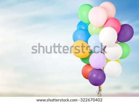 Balloons. - stock photo