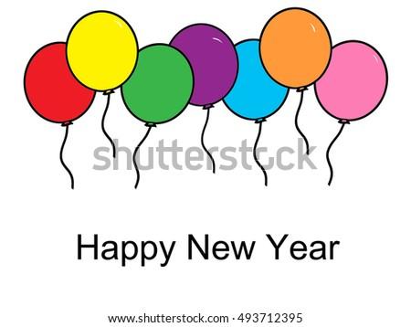 balloons happy new year