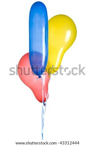 balloons isolated - stock photo
