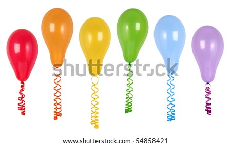 Balloons isolated on white - stock photo