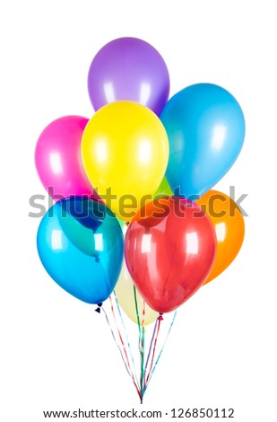 Balloons isolated on white background - stock photo