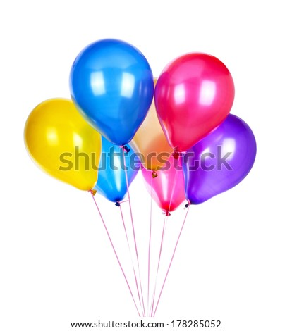Balloons, isolated on white background - stock photo