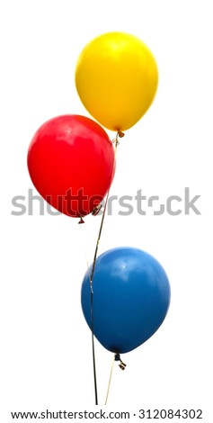 balloons on a white background - stock photo