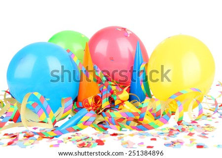 balloons streamers - stock photo