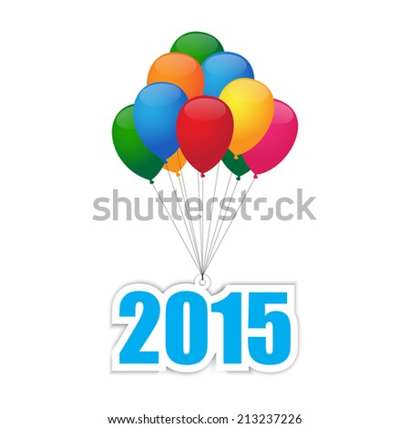 Balloons 2015. Vector available. - stock photo