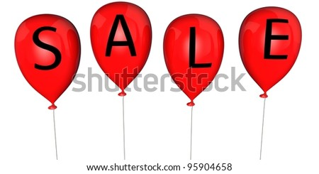 Balloons with an inscription - SALE