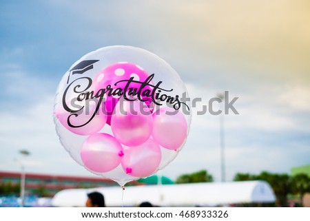 balloons with congratulations text
