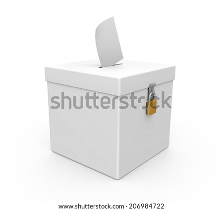 Ballot Box Isolated - stock photo